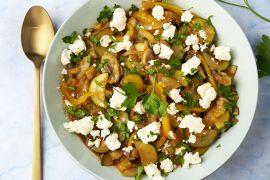 Foto van Grieks groentestoofpotje met feta