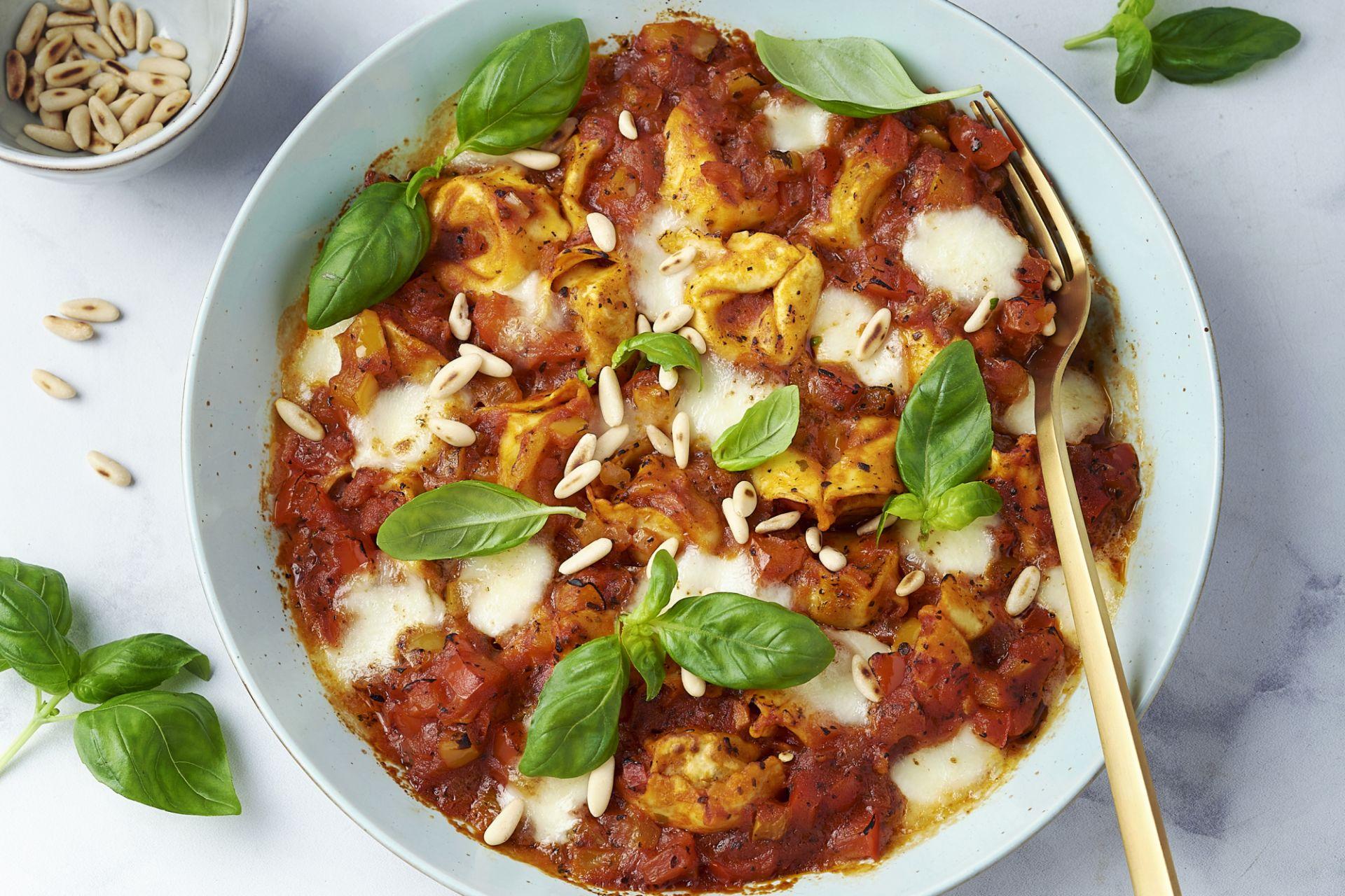 Snelle 'one pot lasagne' met tortellini