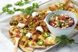 Foto van Veggie loaded nachos