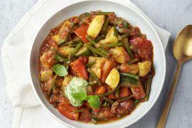 Foto van Provençaals groentestoofpotje met pistou