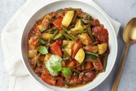 Provençaals groentestoofpotje met pistou
