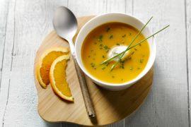 Foto van Wortelsoep met sinaasappelroom