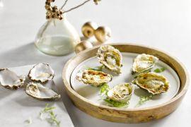 Foto van Gegratineerde oesters