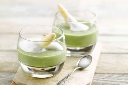 Gazpacho van witte en groene asperges