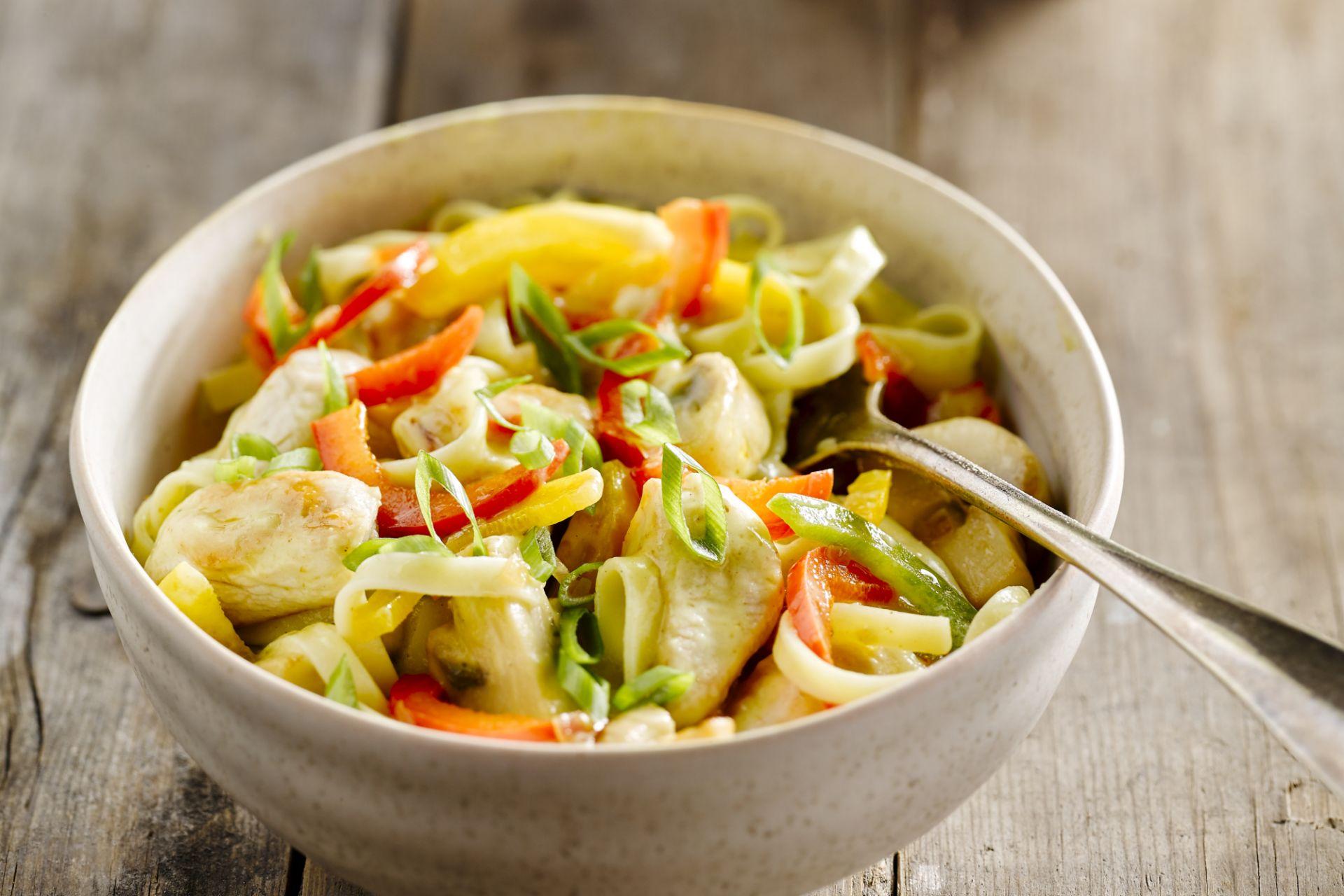 pastasalade met champignons