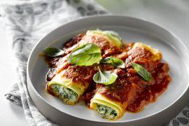 Foto van Cannelloni met spinazie en ricotta