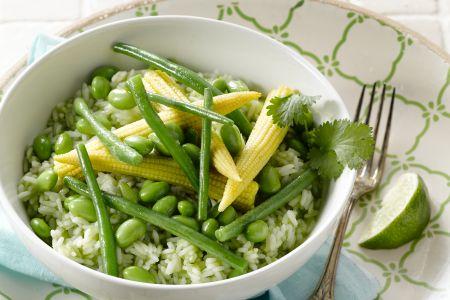 Rijstsalade met lentegroenten