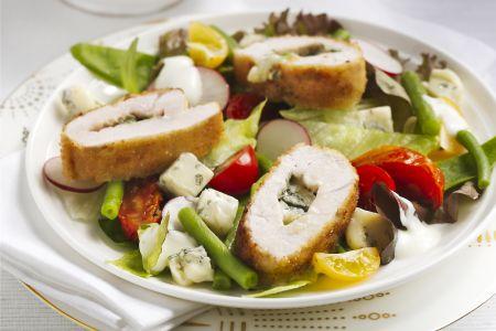 Kalkoenschnitzel met boontjessalade