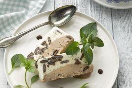 Foto van Semifreddo van chocolade en pepermunt