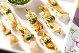 Foto van Ciabatta met gegrilde kip en salsa verde