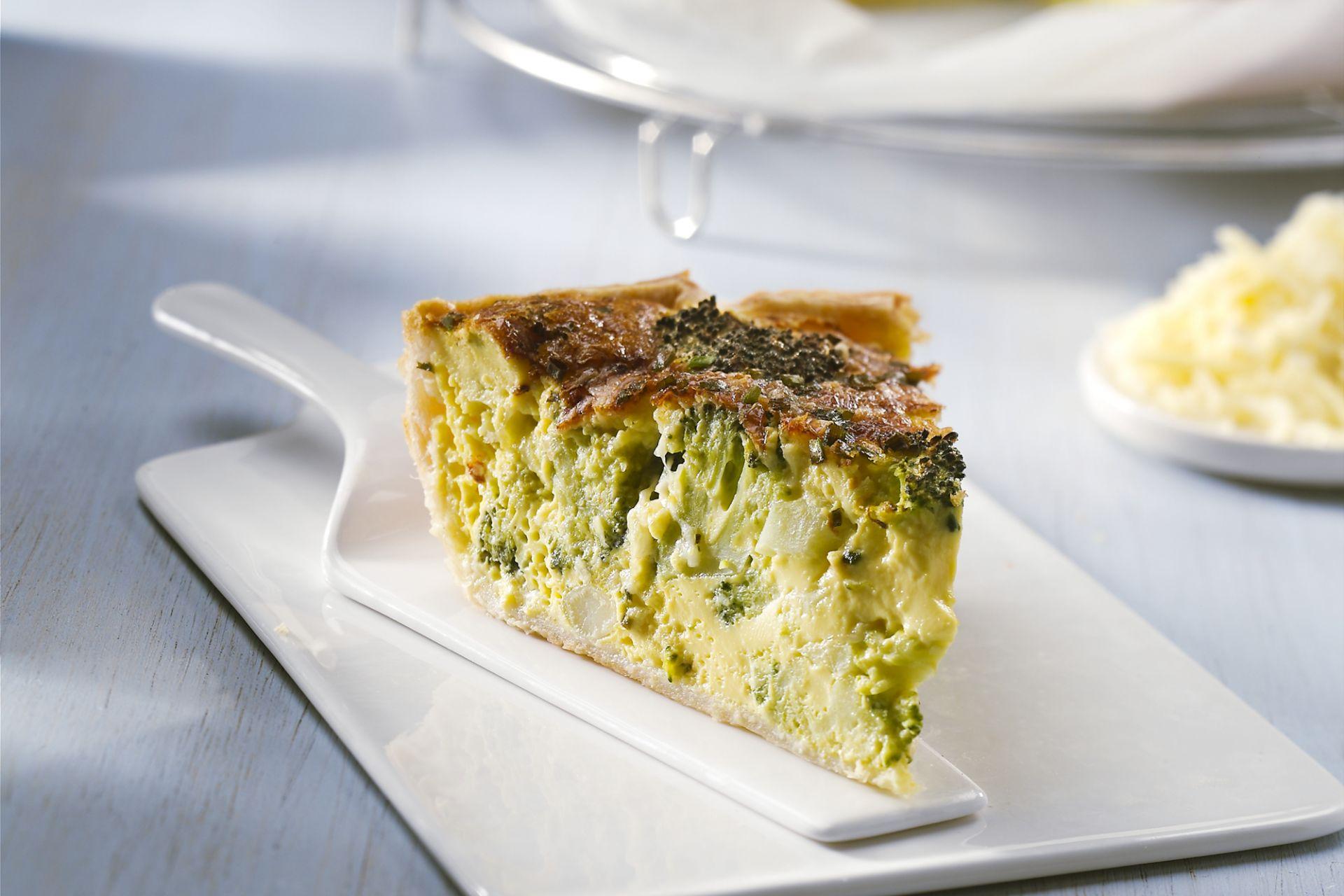 Quiche met broccoli en kaas