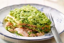 Foto van Lasagne met zalm en broccoli