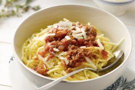 Foto van Pici met tomaten-vleessaus