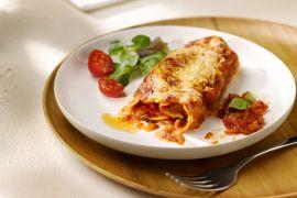 Foto van Cannelloni met gehakt en tomatensaus