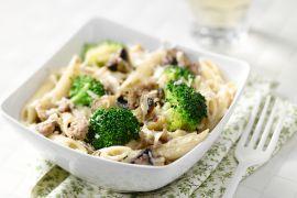 Foto van Penne met gehakt en broccoli