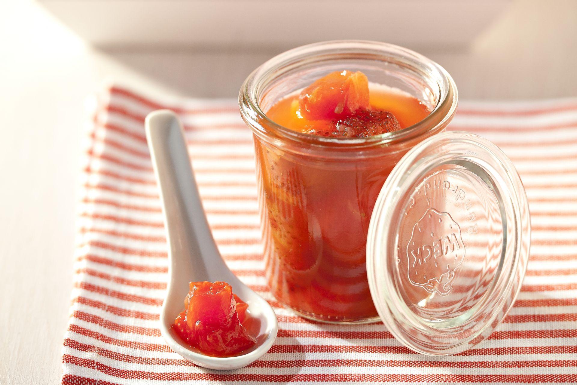Confituur van aardbei en watermeloen