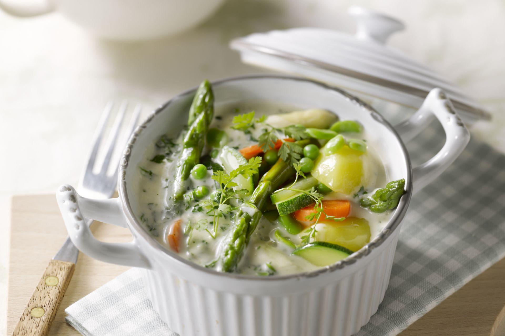 Vegetarische aspergeragout