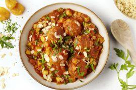 Foto van Marokkaanse kippengehaktballetjes met couscous