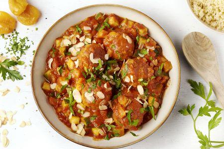 Marokkaanse kippengehaktballetjes met couscous