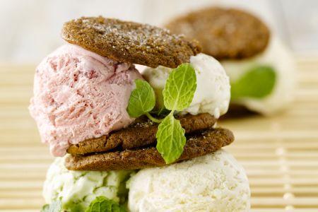 Gemberkoekjes met ijs