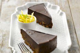 Foto van Chocoladetaart met gember