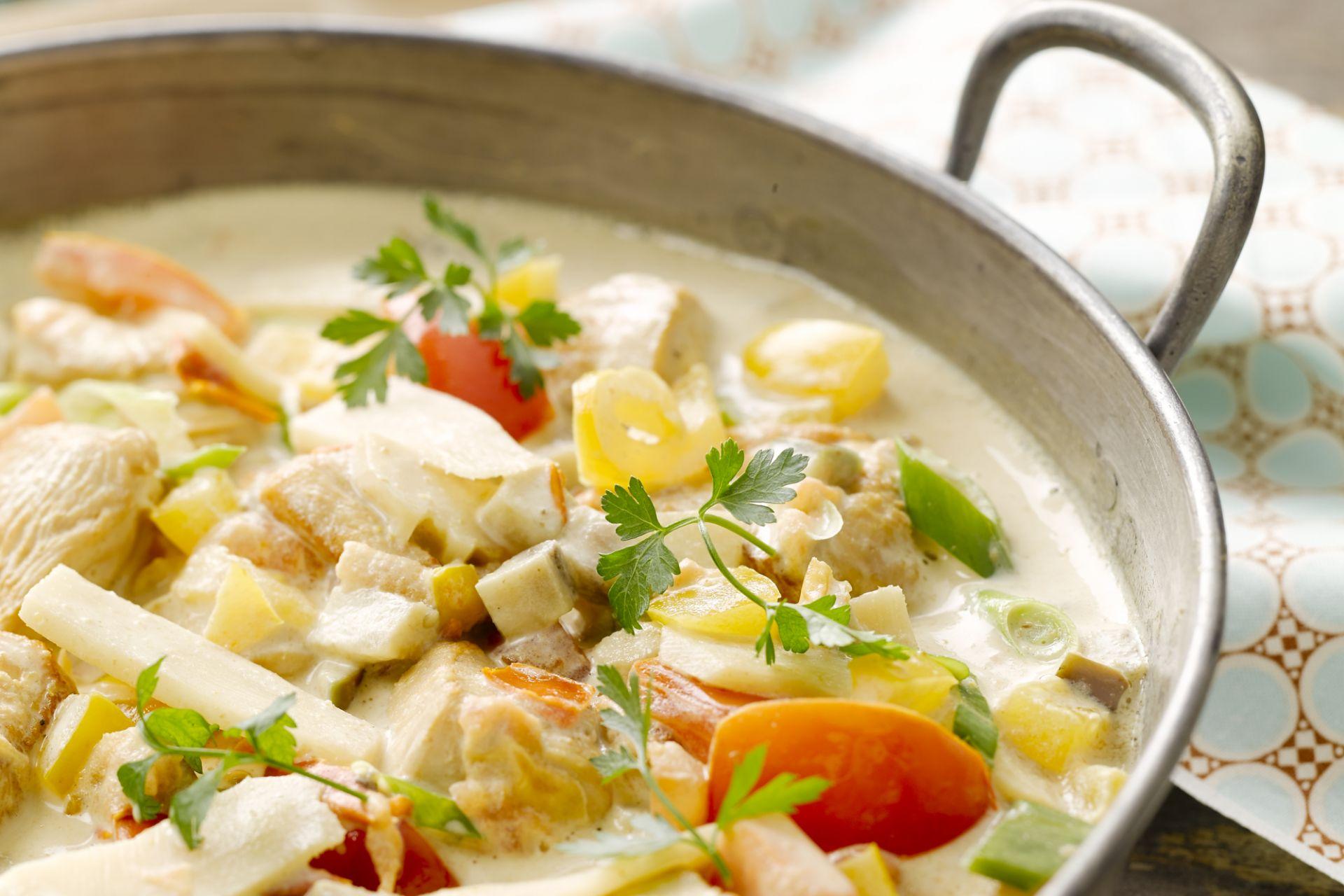 Groene curry met kip
