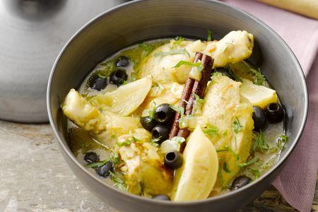 Tajine van kip met olijven en ingelegde citroenen