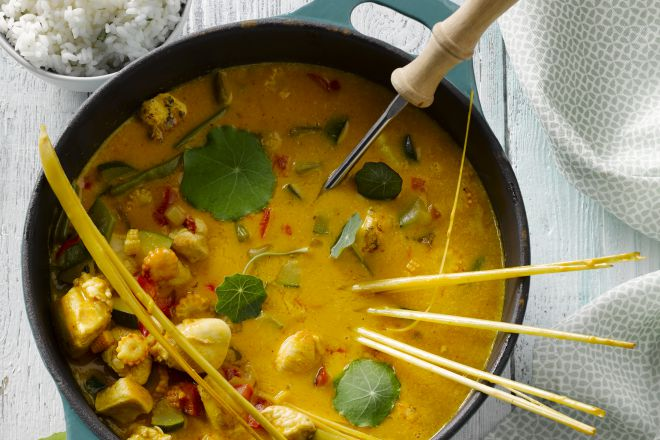 Thaise rode curry met kip