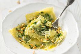 Foto van Ravioli met ricotta en spinazie