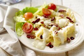 Foto van Tortellini met gorgonzola en pecannoten