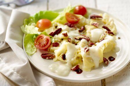 Tortellini met gorgonzola en pecannoten