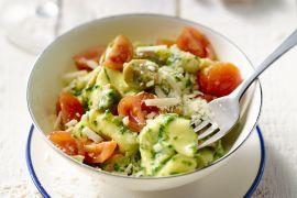 Foto van Tortellini met romige spinazie