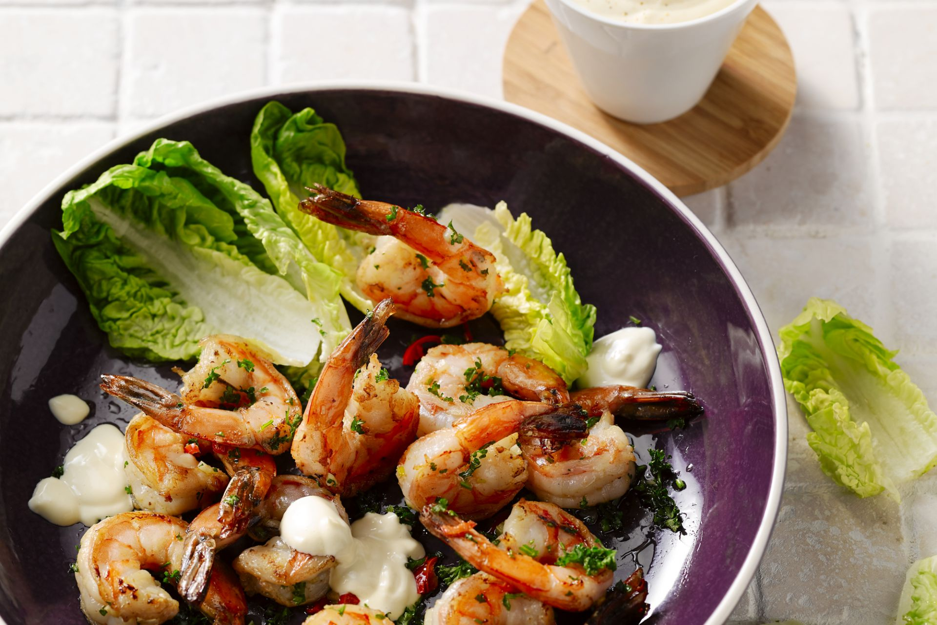 Grote scampi's met aioli