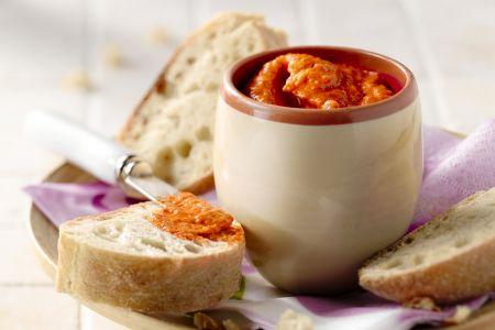 Mezze met rode paprika en feta