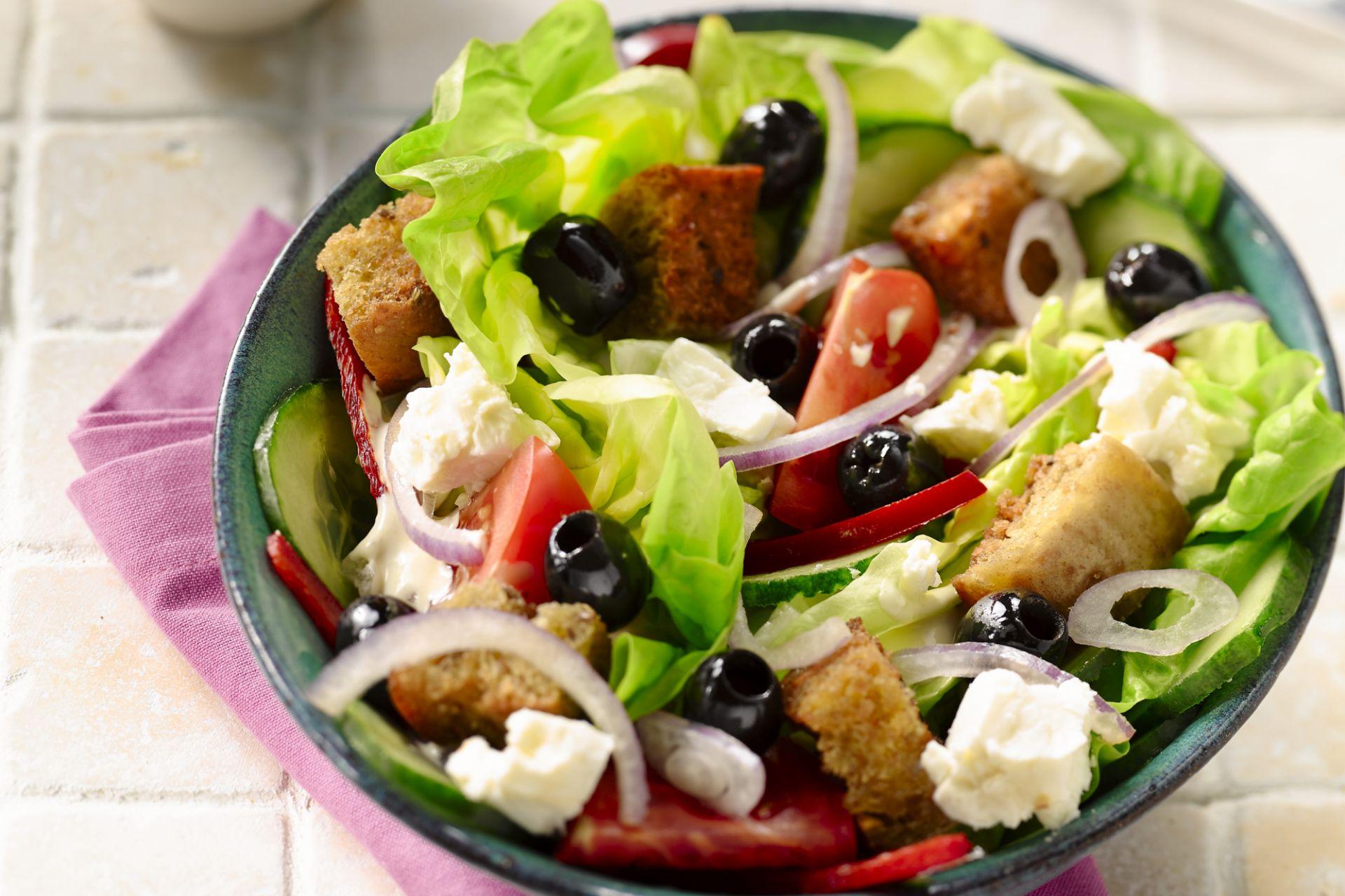 bereiding griekse salade dressing
