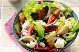 Foto van Griekse salade met feta