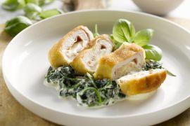 Foto van Cordon bleu van kip met spinazie en ricotta