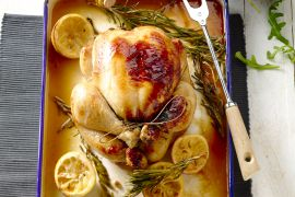 Foto van Citroenkip uit de oven