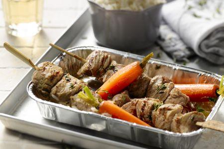 Grieks varkentje op de grill