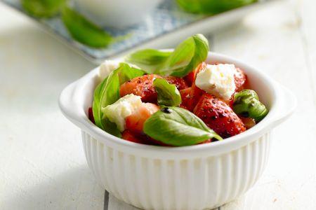 Salade van aardbeien en balsamico