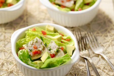 Mexicaanse vissalade met avocado