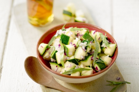 Courgettesalade met dragonvinaigrette