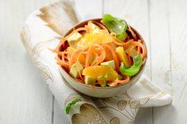 Foto van Wortelsalade met sinaasappel en avocado