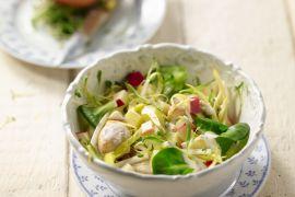Foto van Witloofsalade met gebakken kip en yoghurtvinaigrette