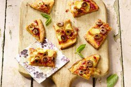 Foto van Aardappelpizza met pancetta