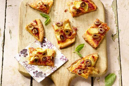 Aardappelpizza met pancetta