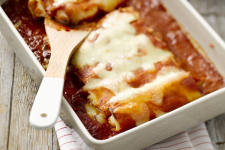 Cannelloni met ricotta en geitenkaas