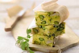 Foto van Tortilla met asperges