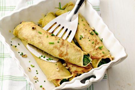 Spinaziepannenkoeken met mozzarella