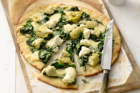 Spinaziepizza met artisjok